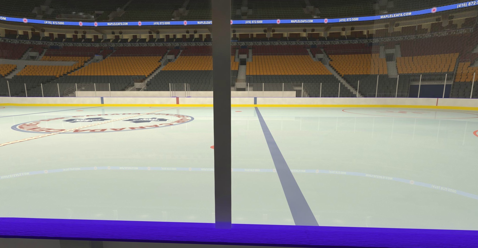 Sat, Mar 24, 2018 - Red Wings @ Leafs - Sec 107 Row 1 - Click Image to Close