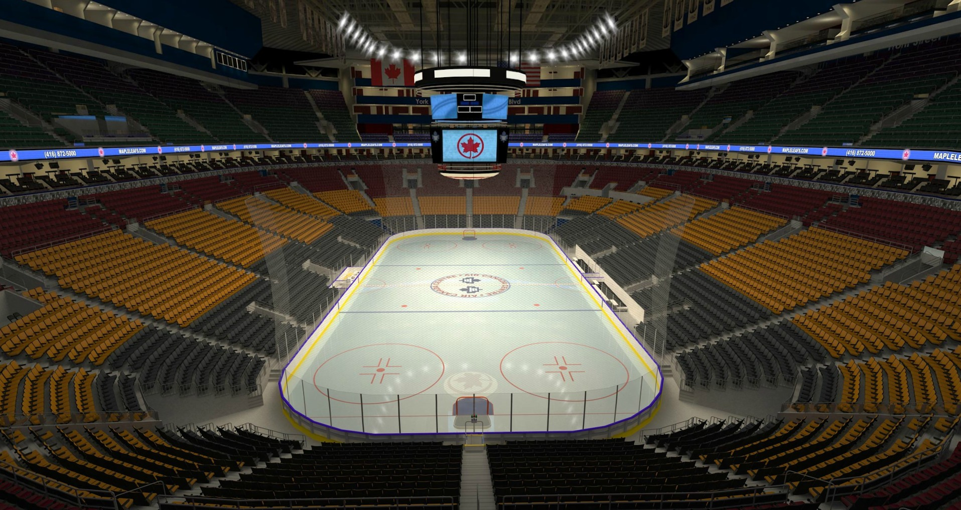 Sat, Mar 24, 2018 - Red Wings @ Leafs - Sec 303 Row 1 - Click Image to Close
